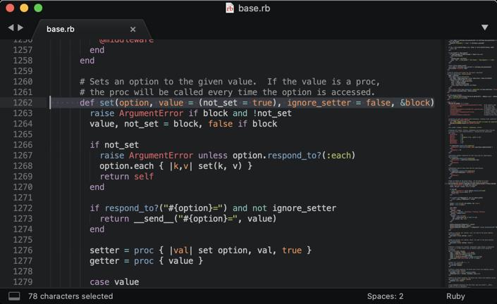set source code