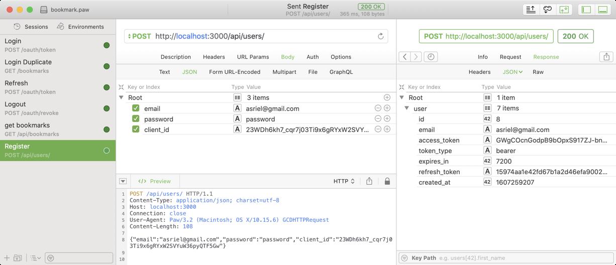 create user API